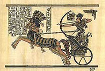 Illustration of Akhenaton on Chariot
