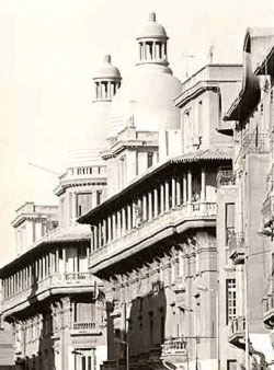 The Khedive Building in Downtwon Cairo from Imad al-Din Street
