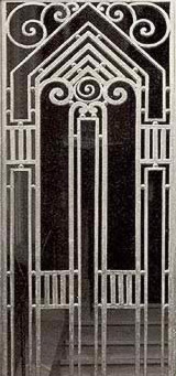 An Iron gate at 24 Saray al-Gazira in Zamalek