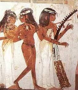 A Musician's scene from the Tomb of Nakht