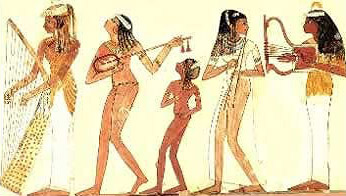 Musicians from a tome scene in Ancient Egypt