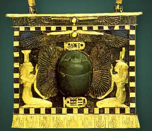 Pectoral of Sheshonq II with Winged Scarab