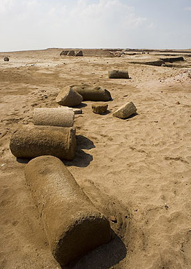 Columns in the sand at Pelusium