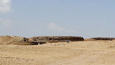 A distant view of the fortress at Pelusium