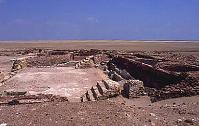 The Byzantine Church ruins at Tell el-Makhzan