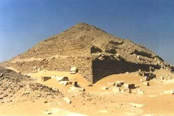 Another view of the Pyramid of Pepi II at South Saqqara in Egypt