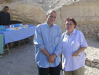 Dr. Sabry Abd El Aziz and the Author, Jane Akshar at the Tomb Opening