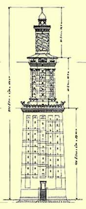 One of Hermann Thierch's drawings of the Pharos Lighthouse