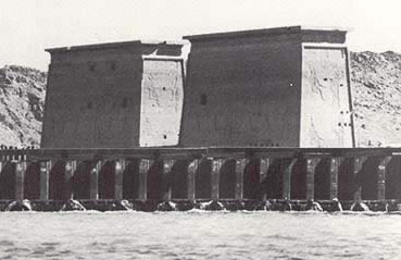 The Coffer Dam surrounding Philae Island after its completion
