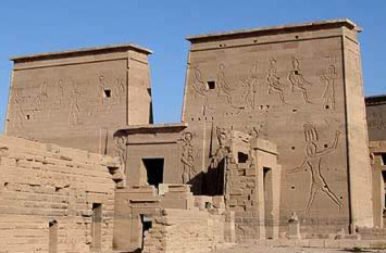 The First Pylon of the Temple of Isis removed from Philae Island to Agilika Island
