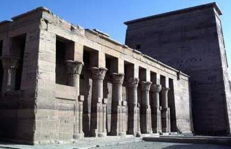 The Birth House in the Isis Temple of Philae in Egypt