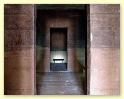 Inside Birth House in the Isis Temple of Philae in Egypt looking into the Sanctuary