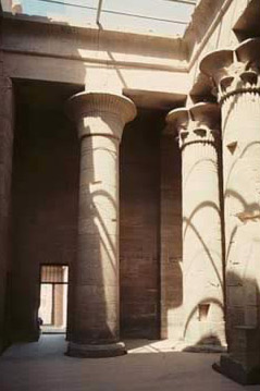 Photo of the hypstyle court in the Temple of Isis at Philae