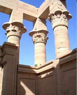 Columns and capitals of the Kiosk of Trajan