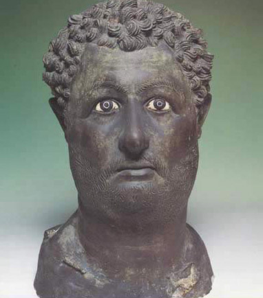 Bronze Head of Emperor Hadrian