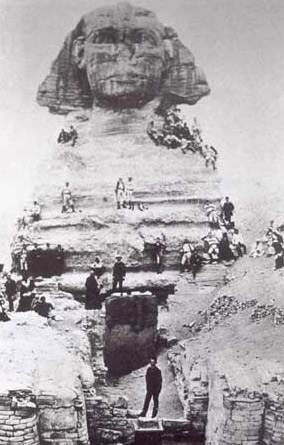Sphinx at Giza in 1900