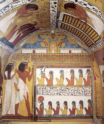 The Left Wall of the Tomb of Sennedjem