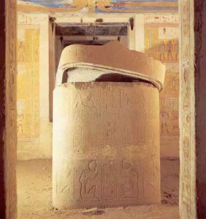Granite Sarcophagus in the Tomb of Ramesses IV