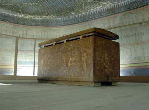 Sarcophagus in Tomb of  Thutmose III