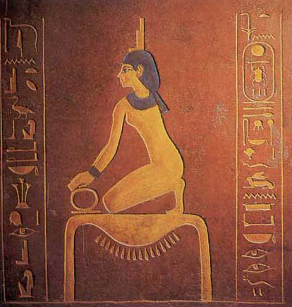 Gold Hieroglyph as Death Bed