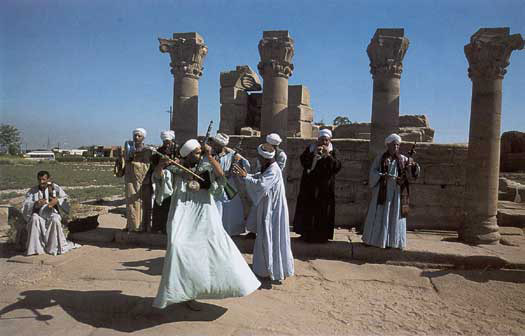 Players at Dendera Temple