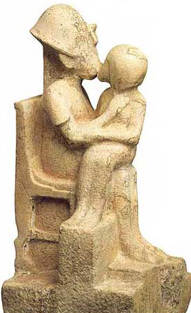 Statuette of Akhenaten with Female Figure