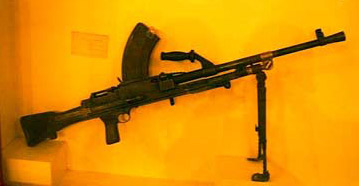 A British machine gun used by the Egyptian police