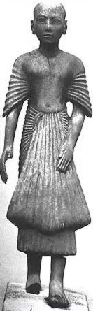 Depiction of a priest in ancient Egypt