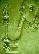 Ptah, Holding the special Was-Ankh-Djed Sceptre