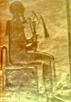 A Seated Ptah, Holding His Sceptres, the Crook and the Flail