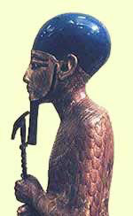 Coloured Statue of Ptah