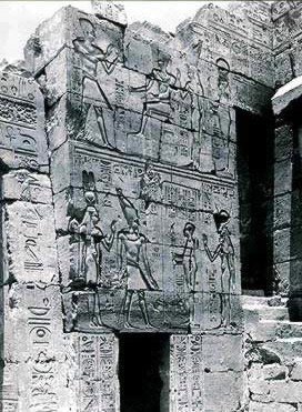 North Wing of the Pylon, East Facade With scenes of Ptolemy IV