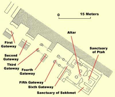 Floorplan of the temple of Ptah at Karnak