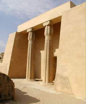 The entrance way to the mortuary complex of Ptahshepses at Abusir