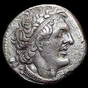 Head of Ptolemy I Soter on an ancient coin