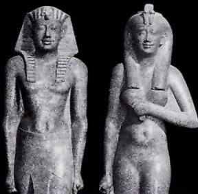 Ptolemy II and his wife  and sister