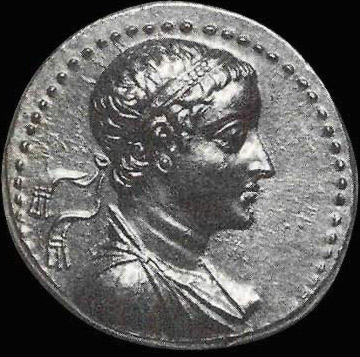 A coin depicting Ptolemy V