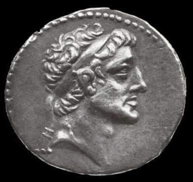 A coin bearing the image of Ptolemy VI