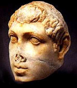 Head of a statue thought to be Ptolemy VIII, now in the Metropolitan Museum of Art, New York
