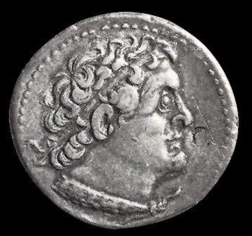 Ptolemy III on a coin, apparently at an older age