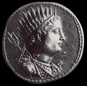 Ptolemy III on a coin, apparently at a fairly young age