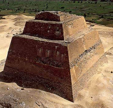 The Meidum Pyramid with its sharp lines
