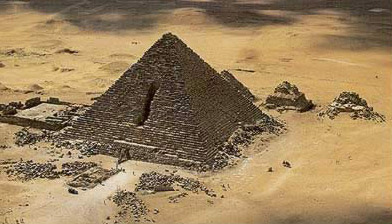 The Smallest of the  Three Royal Pyramids at Giza, belonging to Menkaure
