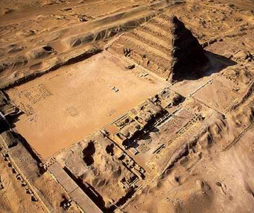 A view of the Step Pyramid of Djoser