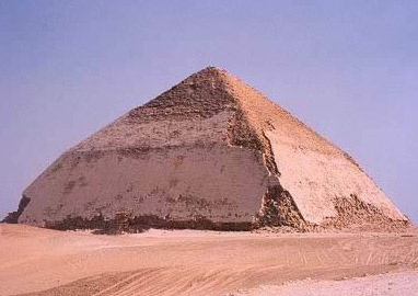 The Bent Pyramid was one of the first efforts to build a true, smooth sided pyramid