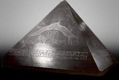 The pyramidion of Amenemhet III, one of the most complete ever discovered in Egypt