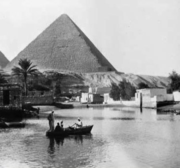 The Nile once flooded right up to the Great Pyramids at Giza in Egypt