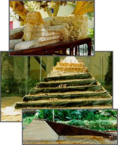 The Incredible Detail of the Pyramids and Sphinx Exhibit