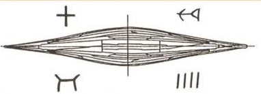 An ancient Egyptian boat