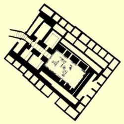 The Floorplan of Tomb Q at Abydos belonging to Qa'a
